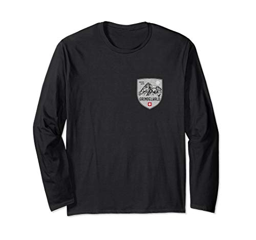 (Grindelwald Mountain Switzerland Emblem Longsleeve)
