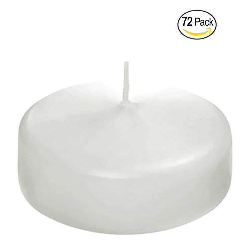 Floating disc Candles for Wedding, Birthday, Holiday & Home Decoration by Royal Imports, 2 Inch, White Wax, Set of 72