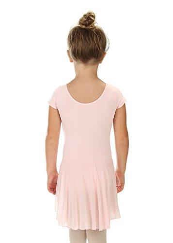 90dc3cba7 Elowel Kids Girls  Ruffle Short Sleeve Skirted Leotard (Size 2-14 ...