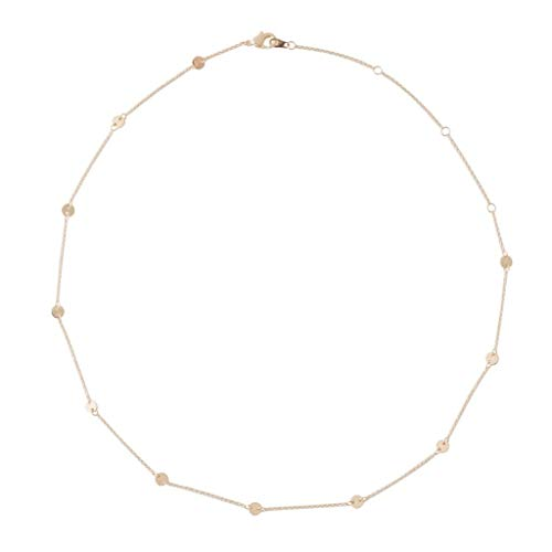 HONEYCAT Milky Way Disc Chain Necklace in Gold, Rose Gold, or Silver | Minimalist, Delicate Jewelry (Rose Gold)