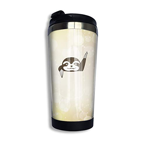 Arsmt Pocket Sloth 13.5oz Stainless Steel Coffee Mugs Leakproof Insulated Tea Cup