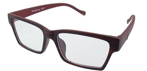 Profonde plastique vin plein Rim unisexe lunettes lentille claire
