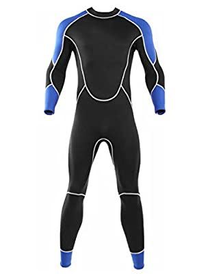 Niiwi Men Full Wetsuit - 2.5mm Premium Neoprene Diving Suit Snorkeling Surfing Jumpsuit