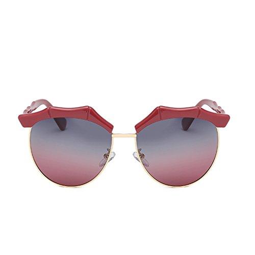 Vintage YUBIN UV Color Solar Marea De Estilo De Harajuku Coreana Luz Mujeres Mujer Beach Versión C Glasses Sol Red Protección Sol Polarizada Anti Gafas Gafas 6w0qgHx6