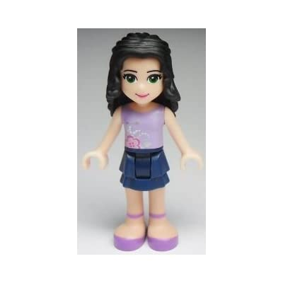 """New Lego Friends Emma Blue and Lavender Outfit 2"""" Minifigure Loose: Toys & Games"""