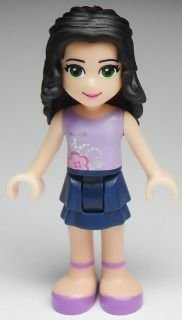 New Lego Friends Emma Blue and Lavender Outfit 2