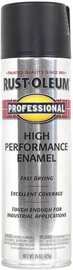 020066757885 - Flat Black High Performance Professional Spray Paint Enamel 7578-838 [Set of 6] carousel main 0