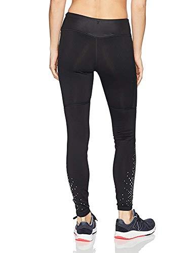 New Balance Women's Matte Shine Cold Weather Tech Tights, Black, Large