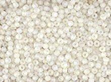 10/0 Czech Seed Bead Hank - Seed Beads 10/0 Czech Matte Finish Crystal (one hank pack)