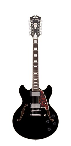 D'Angelico Premier DC 12-String Semi-Hollow Electric Guitar – Black