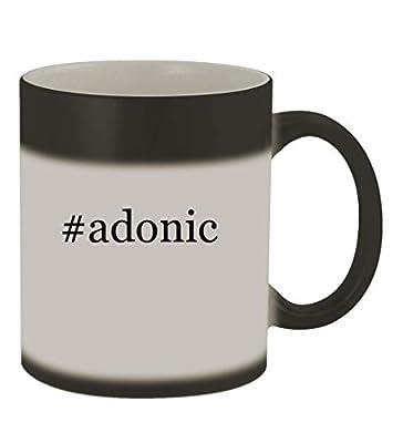 #adonic - 11oz Color Changing Hashtag Sturdy Ceramic Coffee Cup Mug, Matte Black