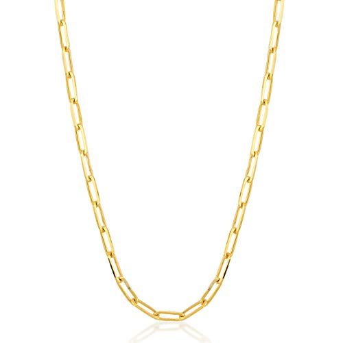 Anchor Links 14k Gold Chain - Gelin 14k Real Gold 1.0 mm Anchor Chain Chain for Women and Men, 18 Inc