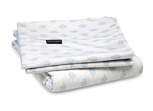 (REKOOP Eco-Friendly Sheets, Cotton Rich, Smooth Percale Weave, 4 Piece Full, 15