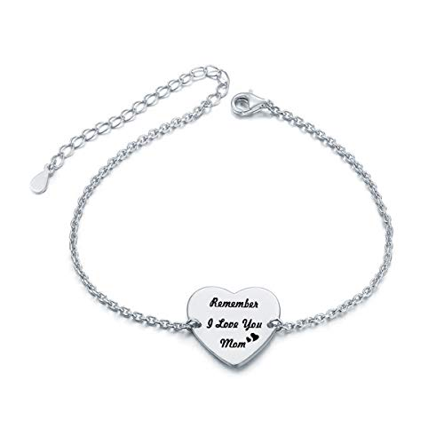 TzrNhm Love Heart Bracelet Remember I Love You