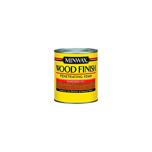 Minwax 223104444 Wood Finish Penetrating Interior Wood Stain, 1/2 pint, Gunstock (Paint Pine Wood)