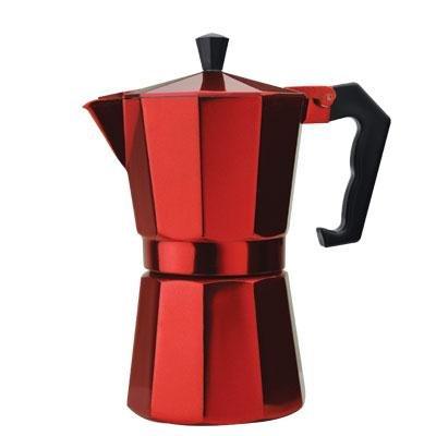 Primula PERE-3306 6-Cup Aluminum Espresso Coffee Maker, Red by Epoca Inc.