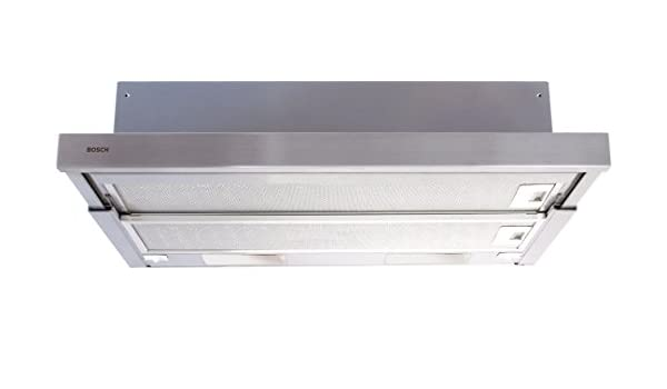 Bosch DHI625P - Campana (350 m³/h, Canalizado/Recirculación, 44 dB, Telescópica o extraplana, Plata, 600 mm): Amazon.es: Hogar
