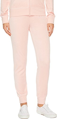 Juicy Couture Women's Zuma Velour Pants Sugared Icing X-Large 29 ()