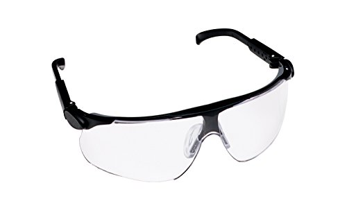 3M  13250 Mabyim Adjustable Temple Safety Glasses  Black Frame  Clear Lens