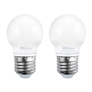 B2ocled LED Light Bulb,3W(25 Watt Equivalent) A15 Lamp Warm White 2700K Non-Dimmable, E26/E27 Base for Home Lighting Decorative, CRI90+, 240-Lumen, 2-Pack