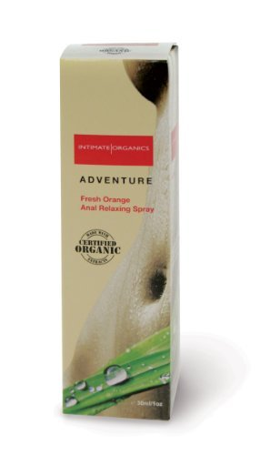 Intimate Organics Aventure Femmes Anal spray relaxant, d'orange frais, une once