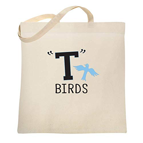 T Birds Gang Logo Costume Retro 50s 60s Costume Natural 15x15 inches Canvas Tote Bag]()