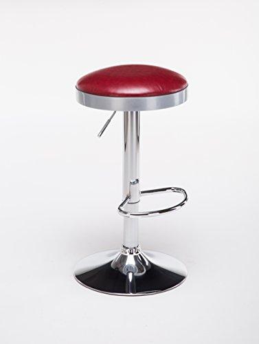 Boraam 98010 Copley Backless Stool, 1-Pack, Adjustable Height, Red by Boraam (Image #5)