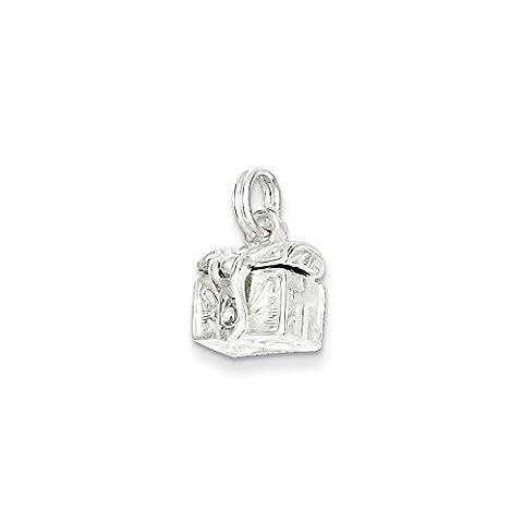 Sterling Silver Cross Prayer Box Charm (13 x 11mm) - Cross Prayer Box Charm