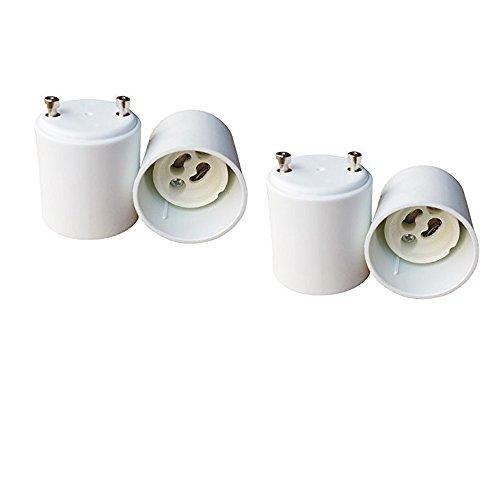 E-Simpo 4pcs Gu24 to Gu10 Adapter, Gu24 to Gu10 Lamp Base Converter, Allow You Install Gu10 Lamp into Gu24 Socket (Gu24 Socket)