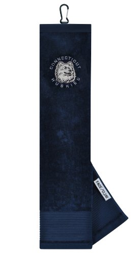 UConn Huskies Face/Club Embroidered Towel