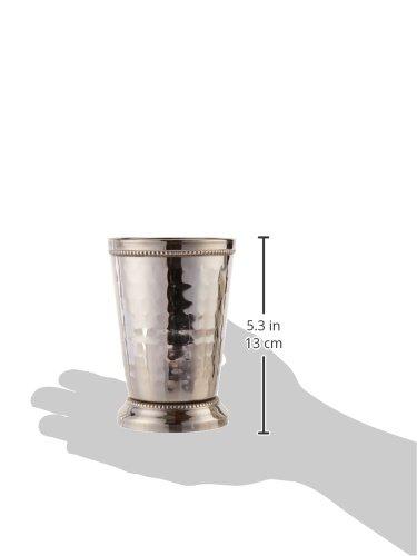 Elegance 12 oz Hammered Mint Julep Cup, Large, Silver by Elegance (Image #2)