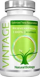 VINTAGE RESVERATROL 100% - Naturally Occurring Resveratrol from French Red Wine Grapes (Rhone Valley Red Wine)