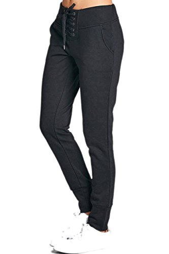 VVK Women's Comfy Cotton Straight Relaxed Fit Twill Cargo Skinny And Long Pants 75_BLACK - Classic Pant Fit Terry French