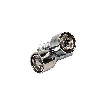 4 tornillos antirrobo para rueda, con molde, para Renault Clio, 2 llaves incluidas, color cromo: Amazon.es: Juguetes y juegos