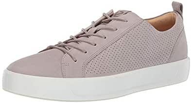 ECCO Men's Soft 8 Tie Sneaker, Moon Rock Summer Perforated, 39 M EU (5-5.5 US)