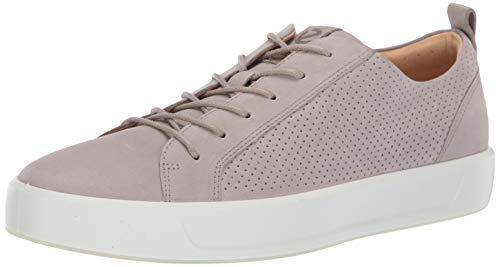 - ECCO Men's Soft 8 Tie Sneaker, Moon Rock Summer Perforated, 46 M EU (12-12.5 US)
