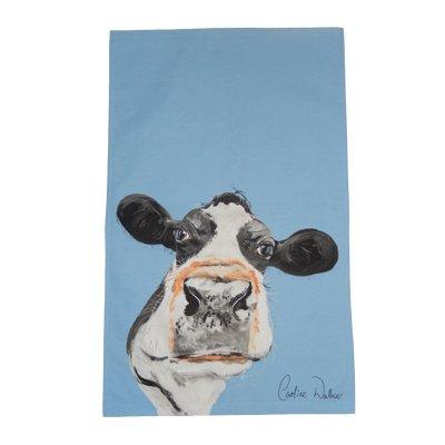 Caroline Walker Blue Cow Tea Towel Caroline Walker Ltd