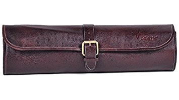 Boldric One Buckle Leather Knife Bag (Brown) by Boldric