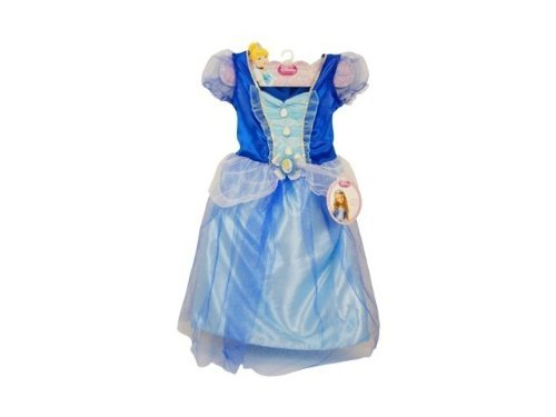 [Disney Princess Sparkle Blue Dress - Cinderella 4-6X] (Home Made Angel Costumes Kids)