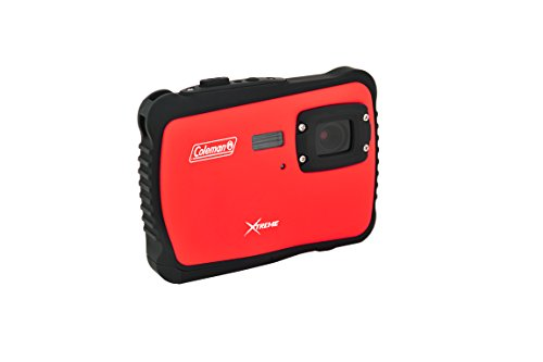 Coleman C6WP-R Xtreme 12.0 MP/HD Underwater Digital & Video Camera (Red) by Coleman