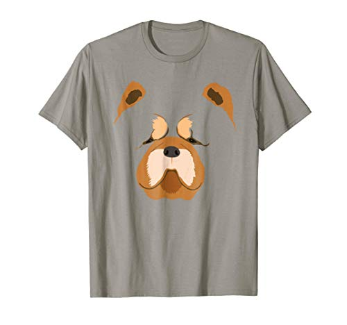 Cute Chow Chow Face Costume T-Shirt Dog Lover Gift Tee -