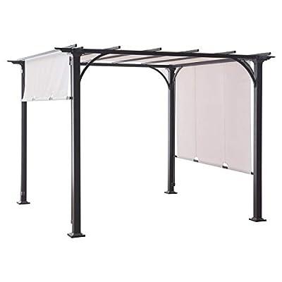 Garden Winds Threshold Pergola Replacement Canopy - RipLock 350: Garden & Outdoor