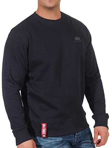 Alpha Industries Basic Small Logo Sweatshirt Dunkelblau M