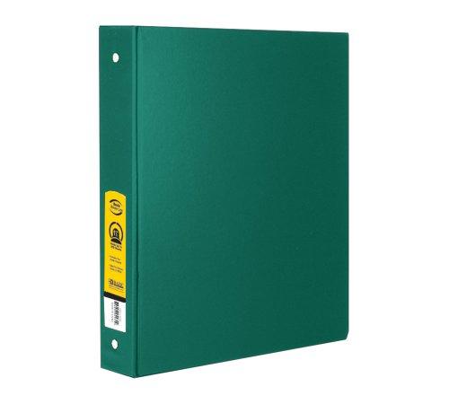 "BAZIC 1"" Green 3-Ring Binder w/ 2-Pockets, Case of 12"