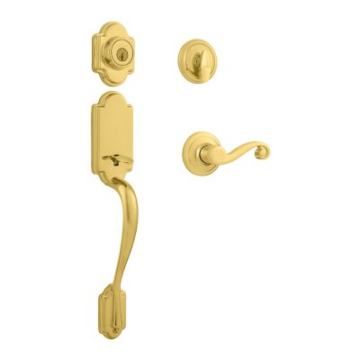 Kwikset Signature Series 98001-096 Polished Brass Right Hand Surface Mounted Half Dummy Lever