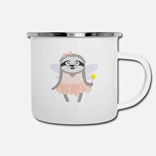 ILC   Fairy Sloth Halloween Costume   Nature 10oz enamel Camping Coffee Mug ()