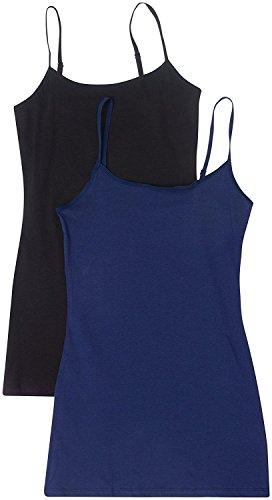 2 Pack Active Basic Women's Basic Tank Top Med Black, Navy