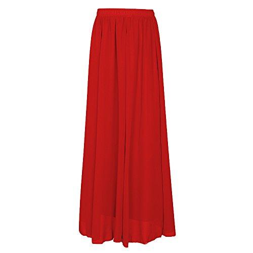 CoutureBridal - Falda - trapecio - para mujer Rojo