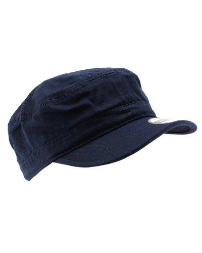 NYFASHION101 Fashionable Solid Color Unisex Adjustable Velcro Strap Cadet Cap, Navy