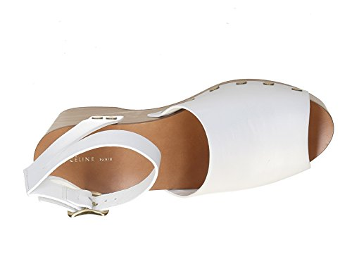 blanc 321243CDCC veau en 01OP bois modèle Code Blanc compensée Céline Sandales Cuir en vTYIx0